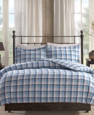 Tasha 3-Pc. Cotton Flannel Queen Comforter Mini Set