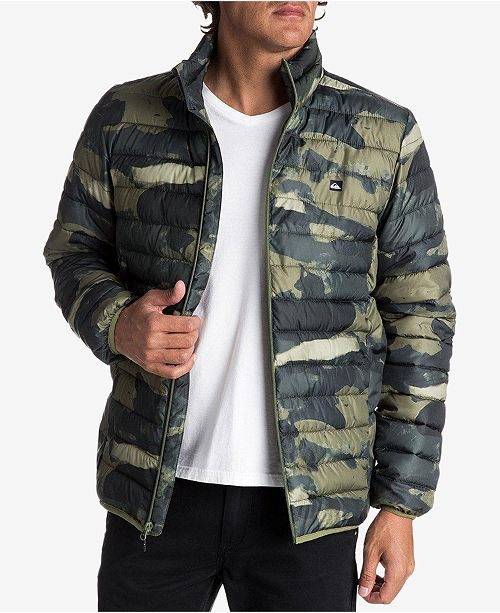 8cad356f5cb0b Quiksilver Men's Scaly Full-Zip Quilted Puffer Jacket & Reviews ...