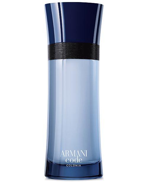 Giorgio Armani Men's Armani Code Colonia Eau de Toilette Spray, 6.7 oz., Created for Macy's
