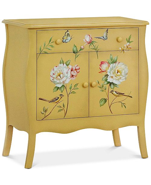 Gallerie Decor Floral Gardens Cabinet, Quick Ship