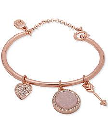 Ivanka Trump Rose Gold-Tone Charm Bangle Bracelet