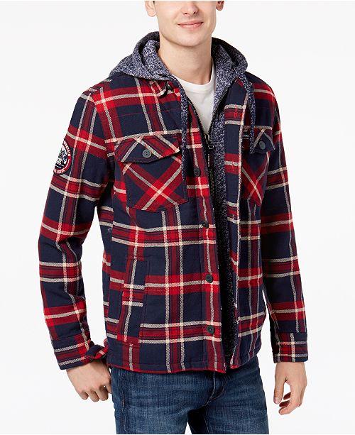 Superdry Men's Everest Storm Plaid Shirt Jacket & Reviews