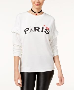 Pretty Rebellious Juniors Paris Graphic Sweatshirt