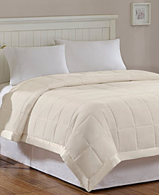 Madison Park Windom Full/Queen Down Alternative Blanket, Microfiber with 3M Scotchgard moisture management treatment