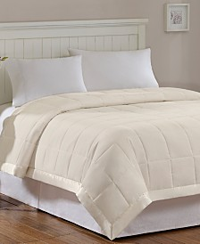 Madison Park Windom Down-Alternative Blankets, Quilted Microfiber with 3M Scotchgard™ Moisture Management
