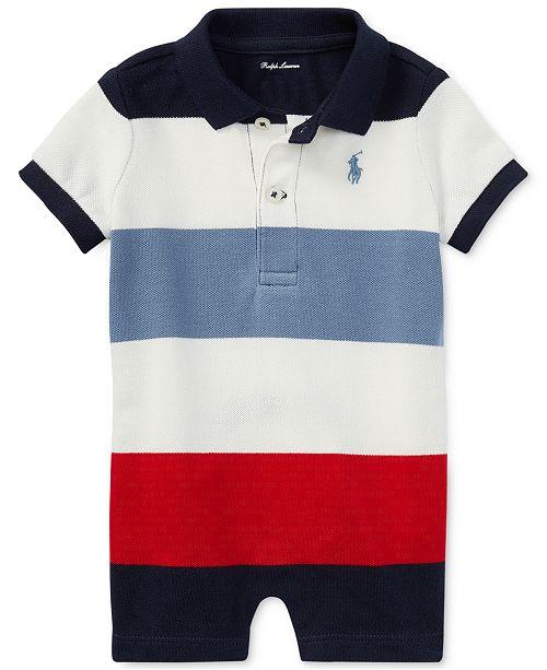 e6ab9ec0d Ralph Lauren Striped Cotton Polo Romper, Baby Boys - All Baby - Kids ...