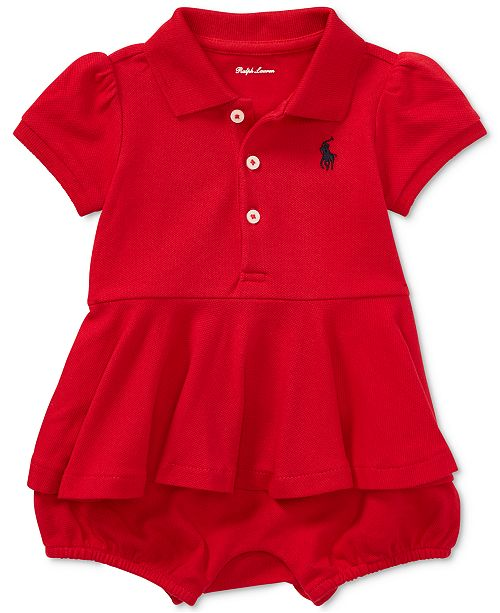 3a2ff9647725 Ralph Lauren Peplum Cotton Polo Romper