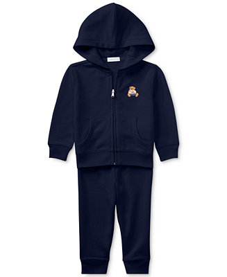 Ralph Lauren Baby Boys Bear Hoodie & Pants Set by General