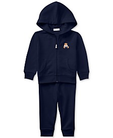 Ralph Lauren Baby Boys Bear Hoodie & Pants Set