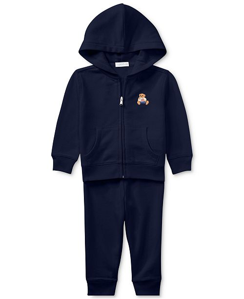 64481e8716d2 Polo Ralph Lauren Ralph Lauren Baby Boys Bear Hoodie   Pants Set ...