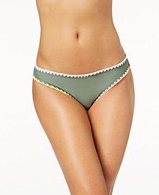 Hula Honey Juniors' Whip-Stitch Hipster Bikini Bottoms, Created for Macy's