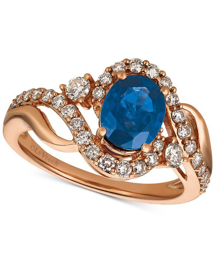 Le Vian - Sapphire (1-1/3 ct. t.w.) & Diamond (5/8 ct. t.w.) in 14k Rose Gold