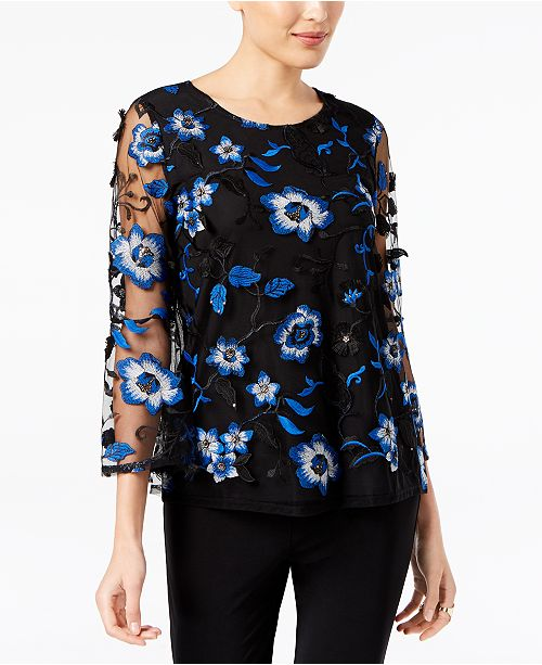 9b688a01799fd ... Alfani Floral-Embroidered Mesh Top