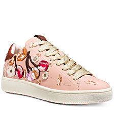 COACH C101 Cherry Leather Sneakers