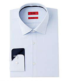 Hugo Boss Men's Classic/Regular Fit Blue Stripe Dress Shirt