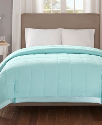 Cambria Twin Down Alternative Blanket, Embossed Oversized Reversible Quilted Microfiber with 3M Scotchgard™