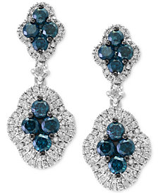 EFFY® Diamond Drop Earrings (1-7/8 ct. t.w.) in 14k White Gold