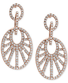 EFFY® Diamond Drop Earrings (7/8 ct. t.w.) in 14k Rose Gold
