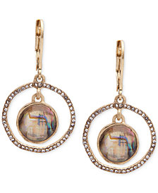 lonna & lilly Abalone & Pavé Orbital Drop Earrings