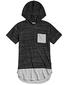 Univibe Extended Hem T-Shirt Hoodie, Big Boys