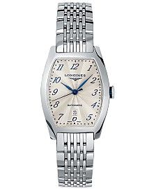 Longines Men's Swiss Automatic Evidenza Stainless Steel Bracelet Watch 26x30.6mm
