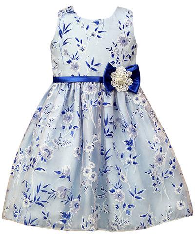 Jayne Copeland Floral Burnout Ball Gown, Little Girls - Dresses ...