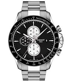 Men's Swiss Automatic Chronograph T-Sport V8 Stainless Steel Bracelet Watch 45mm