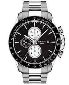 Tissot Men's Swiss Automatic Chronograph T-Sport V8 Stainless Steel Bracelet Watch 45mm