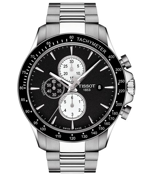 Tissot Men S Swiss Automatic Chronograph T Sport V8 Stainless Steel