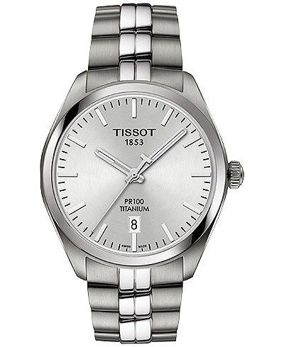 Tissot Men's Swiss T-Classic PR 100 Gray Titanium Bracelet Watch 39mm