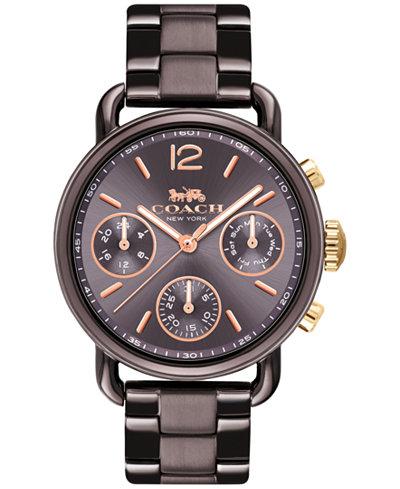COACH Women's Delancey Sport Brown Stainless Steel Bracelet Watch 36mm