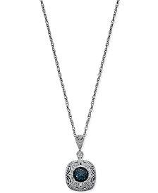Diamond Filigree Pendant Necklace (1/5 ct. t.w.) in Sterling Silver