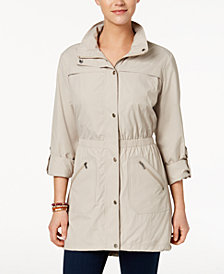 Style & Co Roll-Tab Utility Jacket, Created for Macy's