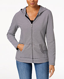 Karen Scott Petite Knit Hoodie Jacket, Created for Macy's