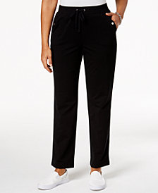Karen Scott Petite French Terry Drawstring Pants, Created for Macy's