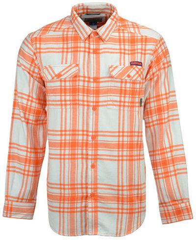 Columbia Men's Clemson Tigers Flare Gun Flannel Long Sleeve Shirt