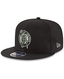 New Era Boston Celtics Black on Shine 9FIFTY Snapback Cap