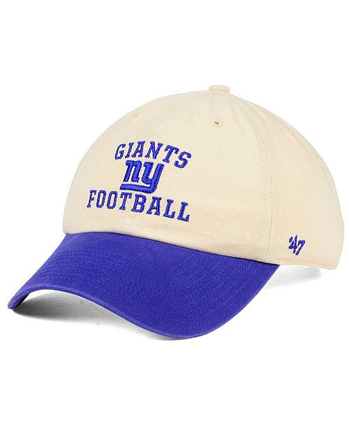 47 Brand New York Giants Steady Two-Tone CLEAN UP Cap - Sports Fan ... 4a1875977