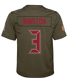 Jameis Winston Tampa Bay Buccaneers Salute To Service Jersey, Big Boys (8-20)
