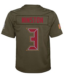 Nike Jameis Winston Tampa Bay Buccaneers Salute To Service Jersey, Big Boys (8-20)