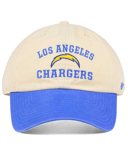 online retailer 2394f 64b7c ...  47 Brand Los Angeles Chargers Steady Two-Tone CLEAN UP Cap    ...