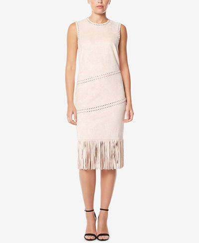 Buffalo David Bitton Faux-Suede Fringe Dress