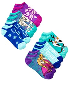 Disney's® Frozen 6-Pack No-Show Ankle Socks, Little Girls & Big Girls