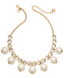 kate spade new york Gold-Tone Crystal & Bead Collar Necklace