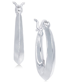 Giani Bernini Polished Puff Hoop Earrings in Sterling Silver, Created for Macy's