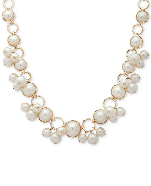 71271459afab Anne Klein Gold-Tone Imitation Pearl Collar Necklace