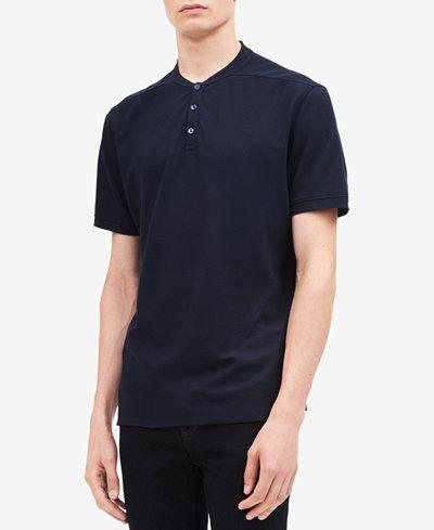Calvin Klein Men's Solid Knit Henley