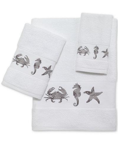 Avanti Ventura Cotton Embroidered Bath Towels