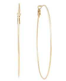 "I.N.C. Extra Large 3"" Hoop Earrings, Created for Macy's"