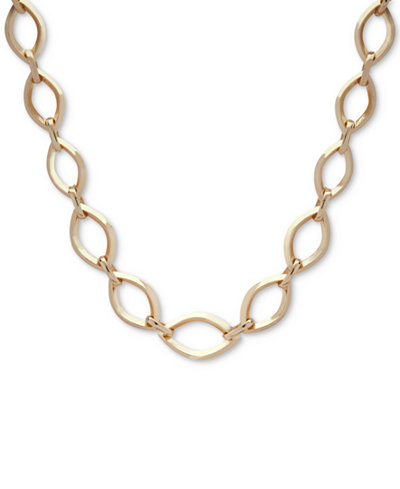 Anne Klein Gold-Tone Large Link Collar Necklace